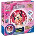 RAVENSBURGER PUZZLE BALL 3D DISNEY MICKEY MOUSE CLUBHOUSE NIGHT-LIGHT - MINNIE (108pcs) (12234)